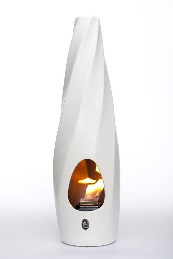 Altezza 70/71  cm<br>Diametro base  17/18 cm <br>Combustione: Bioetanolo<br>Materiale: Ceramica<br>Made in Italy